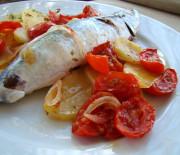 Pesce azzurro con patate cotto al forno