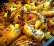 Alette di pollo con patate
