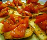 Bruschette con pomodori e origano