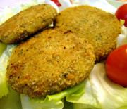 Hamburger di tonno e melanzane
