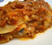 Lasagna con ragù di melanzane