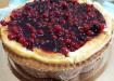 Cheesecake con base di pasta frolla ai frutti di bosco