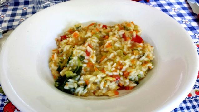 risotto con verdure ( cottura microonde)