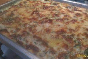 Pasta al gratin con spinaci