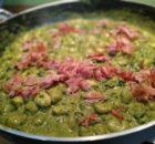 Gnocchi con crema di spinaci
